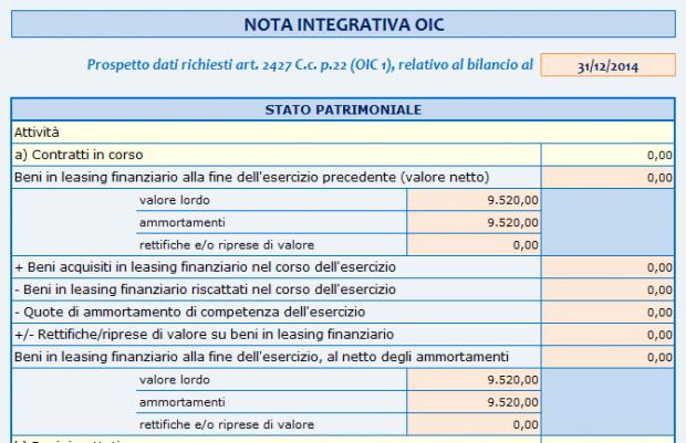 Nota integrativa OIC