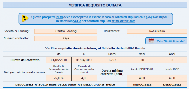 Verifica requisito durata
