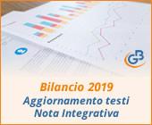 Bilancio 2019: aggiornamento testi Nota Integrativa