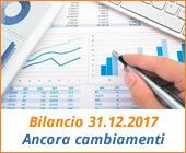 Bilancio 31.12.2017: ancora cambiamenti