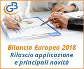 Bilancio Europeo 2018: rilascio applicazione e principali novità