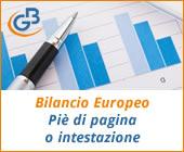 Caso pratico: personalizzazione piè di pagina o intestazione Bilancio Europeo