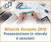 Bilancio Europeo 2018: presentazione in ritardo e sanzioni