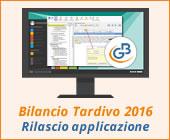 Bilancio Tardivo 2016 con tassonomia 2018: rilascio applicazione
