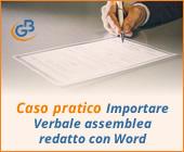 Caso pratico: Importare Verbale assemblea redatto con Word / Open Office