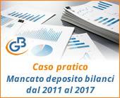 Caso pratico: Mancato deposito bilanci dal 2011 al 2017
