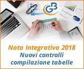 Nota Integrativa 2018: nuovi controlli compilazione tabelle