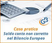 Caso pratico: Saldo del conto non corretto nel Bilancio Europeo