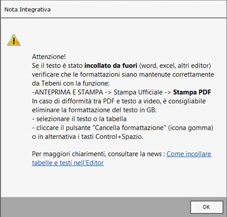 Bilancio XBRL: errori frequenti di validazione - Messaggio del software dopo incollaggio di testo da file esterno