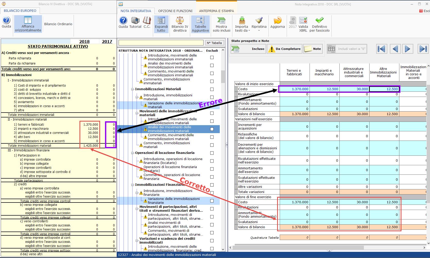 Bilancio XBRL: errori frequenti di validazione – Verifica dati tabelle