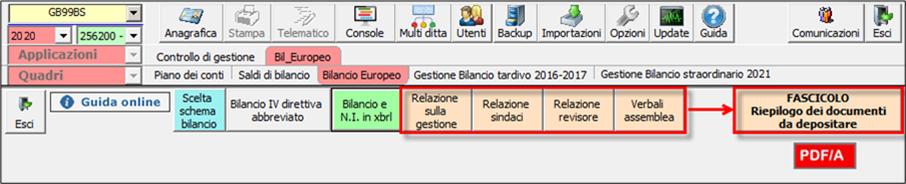 Corretto flusso fino alla validazione XBRL: Bilancio Europeo: redazoine di altri documenti obbligatori