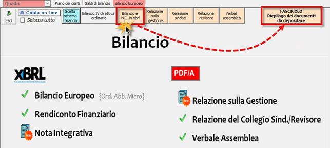 Corretto flusso fino alla validazione XBRL: Bilancio Europeo: Fascilo bilancio che contiene documenti registro imprese