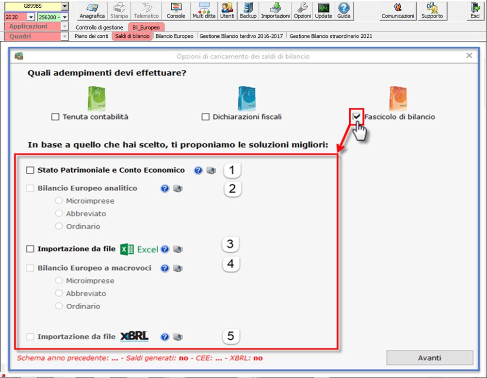 Corretto flusso fino alla validazione XBRL: Bilancio Europeo: importazione da file