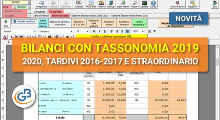 Bilancio Europeo 2020, Bilancio Tardivo 2016-2017, Bilancio Straordinario: disponibili applicazioni
