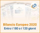 Bilancio Europeo 2020: entro i 180 o i 120 giorni