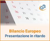 Bilancio Europeo: presentazione in ritardo e sanzioni per il 2020