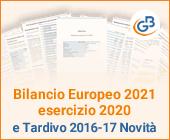 Bilancio Europeo 2021 esercizio 2020 e Tardivo 2016-17 Novità
