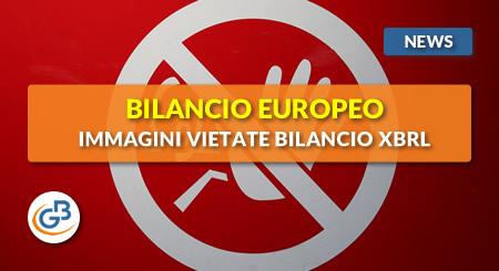 News - Bilancio Europeo: immagini vietate nel bilancio XBRL