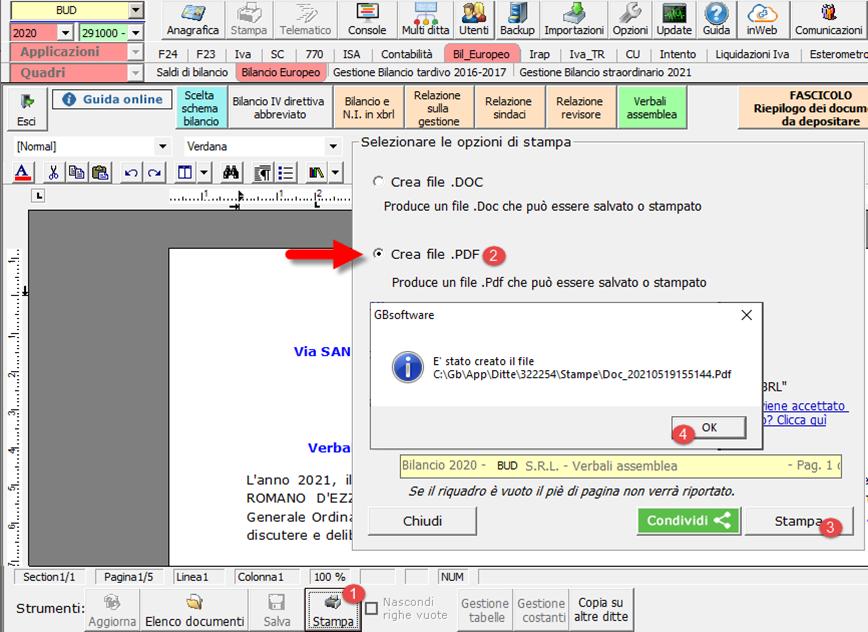La Camera di Commercio non accetta il file PDF/A, che fare?: produzione di un .pdf da convertire