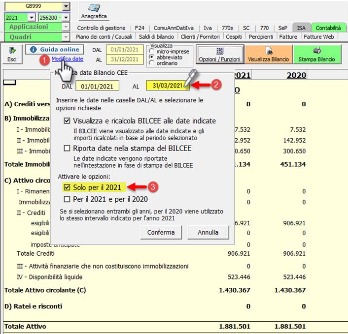 Bilancio finale di liquidazione con Straordinario: Caso pratico: impostare data fine bilancio