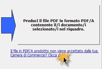 Click guida PDF/A - La Camera di Commercio non accetta il file PDF/A, che fare?