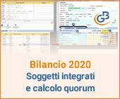 Bilancio 2020: tabelle con soggetti integrati all'anagrafica e calcolo quorum