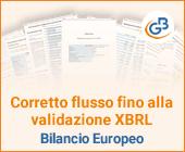 Corretto flusso fino alla validazione XBRL: Bilancio Europeo