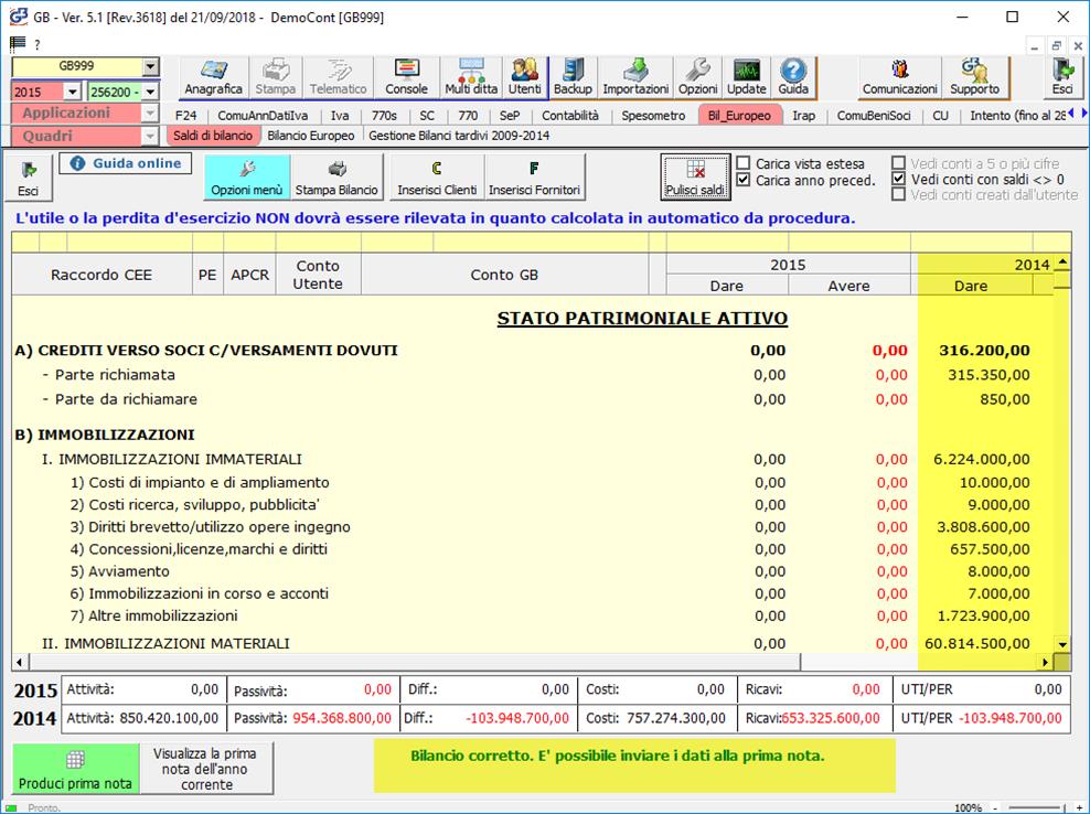 Caso pratico: Mancato deposito bilanci dal 2011 al 2019: maschera