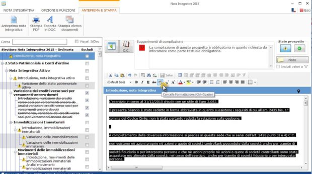 Nota Integrativa: come incollare tabelle e testi nell'Editor – cancellare formattazione testo
