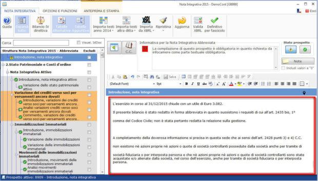 Nota Integrativa: come incollare tabelle e testi nell'Editor – incollando il testo nell'editor lo visioneremo corretto