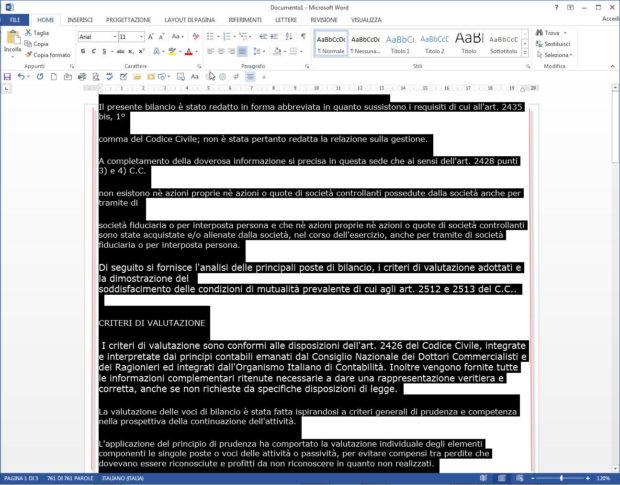 Nota Integrativa: come incollare tabelle e testi nell'Editor – monte margini troppo ampio nell'editor