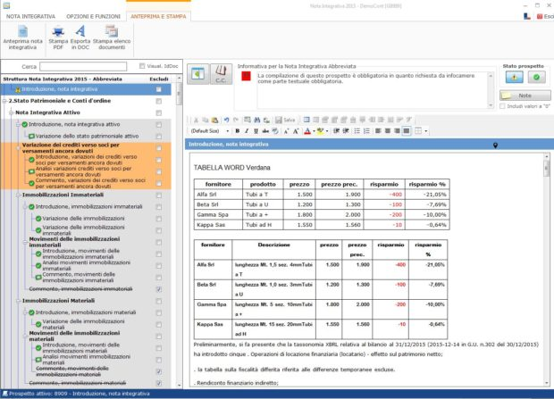 Nota Integrativa: come incollare tabelle e testi nell'Editor –  una volta ridimensionata la tabella incollare nell'editor