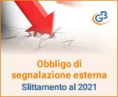 Obbligo di segnalazione esterna: quali sono le ragioni dello slittamento al 2021?
