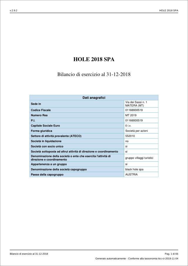 Anteprima PDF Bilancio al 31-12-2018