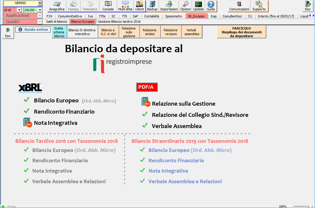 Software Bilancio CEE - Bilancio Europeo GB - 2