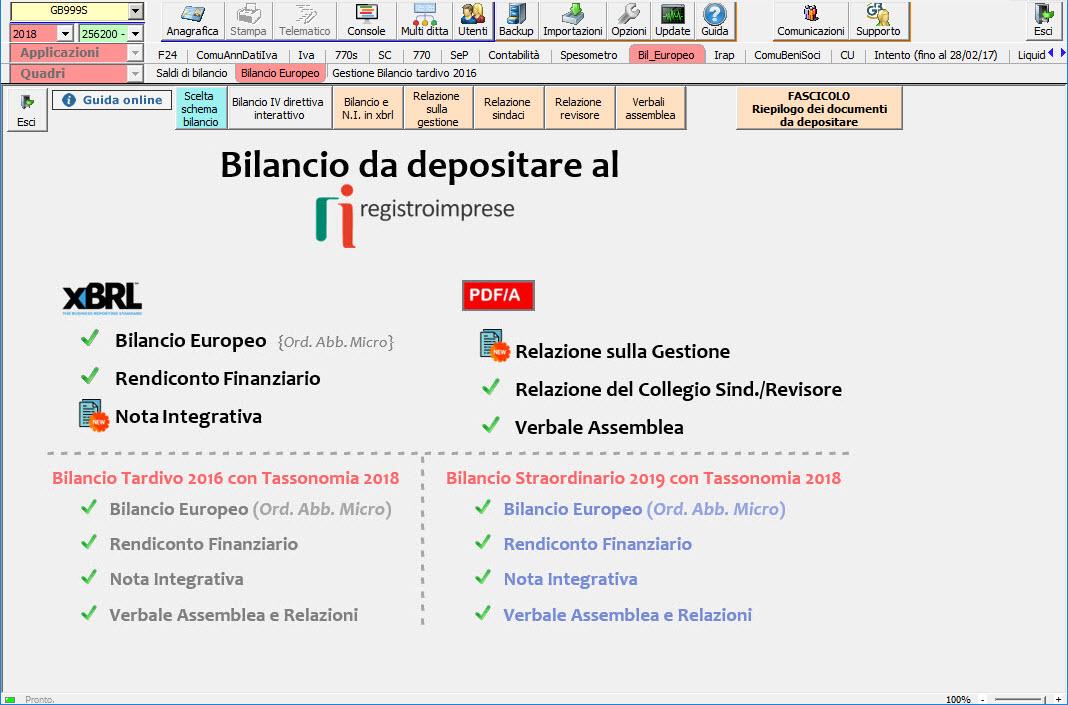 Software Bilancio XBRL e PDF/A - Bilancio Europeo GB