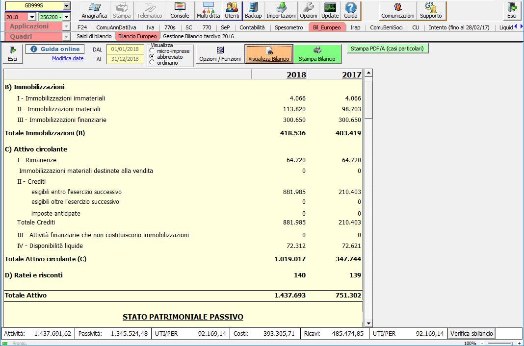 Software Bilancio CEE - Bilancio Europeo GB - 3