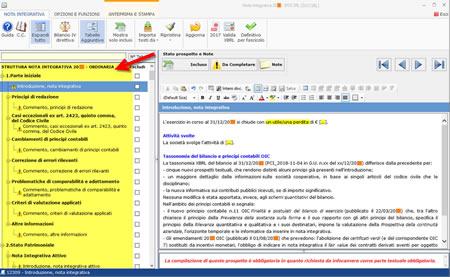 Software Bilancio Europeo - Prospetti della Nota Integrativa