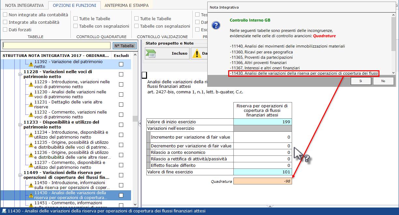 Software Nota Integrativa XBRL - Controlli interni tabelle
