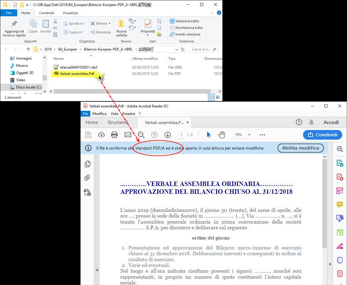 Verbale Assemblea in Bilancio: importarlo da Word e Open Office – dove trovare verbale in pdf/a